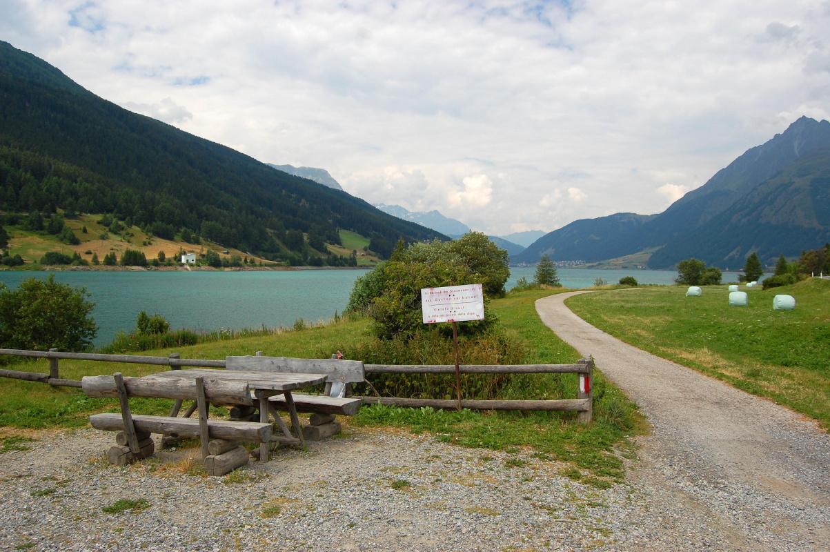 Obr. 7-5 krajina kolem Passo di Ressia