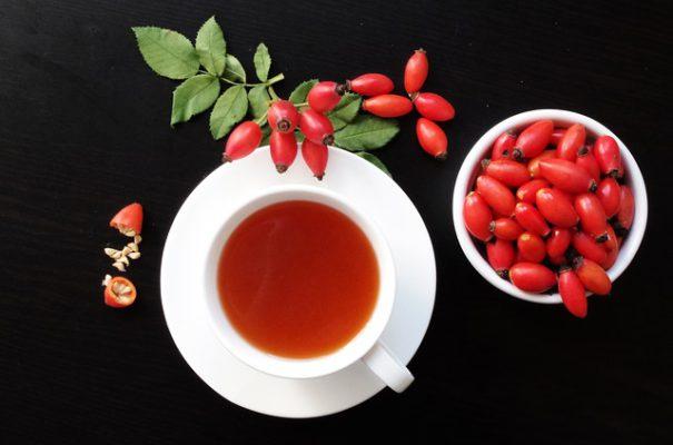 šípkový čaj na podporu imunity