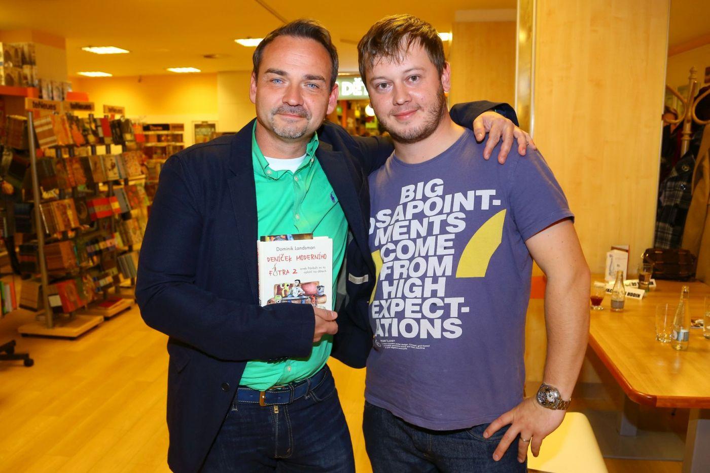 Filip Švarc a Dominik Landsman. Foto Roman Souček