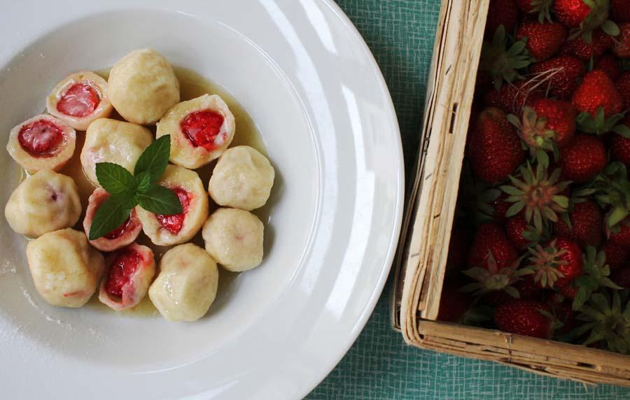 jahodové knedliky