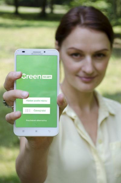 aplikace GreenScan v mobilu