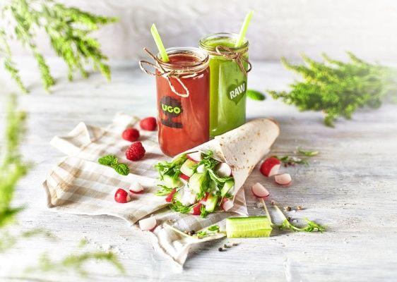 Ugo jarní nabídka wrap a bylinkové nápoje
