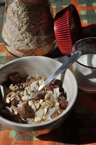Ovesné vločky jako součást snídaně