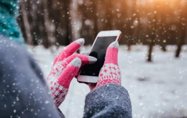 5 důvodů, proč smartphone v zimě nefunguje obvykle
