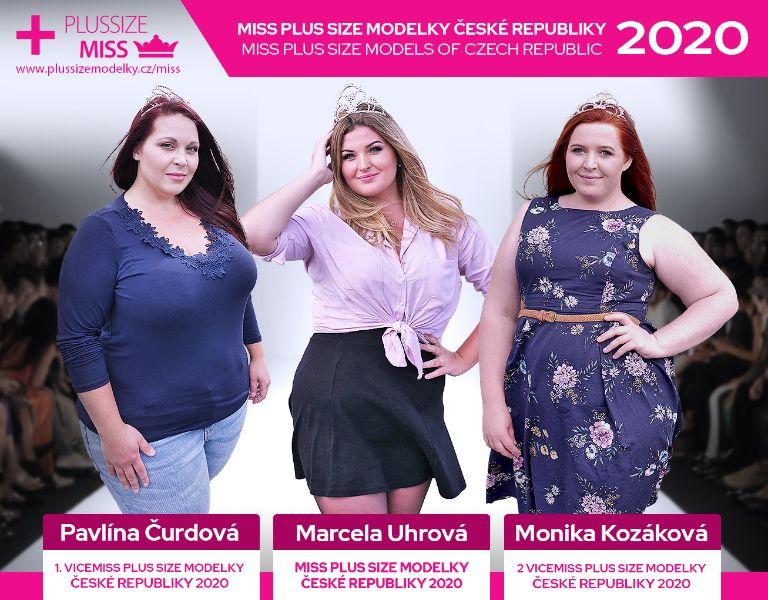 Známe vítězky prvního ročníku soutěže Miss Plus Size modelky ČR 2020!