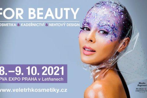 FOR BEAUTY představí zkrášlující novinky z oblasti kosmetiky, kadeřnictví a nehtového designu